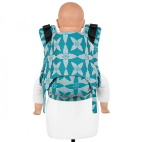 Toddler Size: Fidella Fusion 2.0 Full Wrap Conversion; Blossom Ocean Blue
