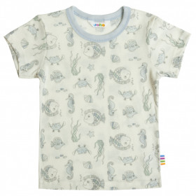 Tricou Joha lână de vara - Sea Life Light Blue