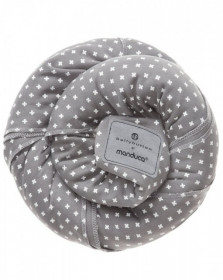 Wrap elastic, portbebe,  Manduca, BellyButton WildCrosses Grey