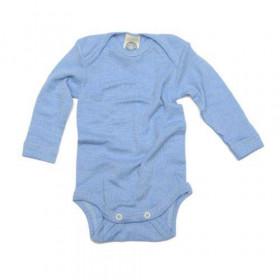 Body Cosilana din lână merinos, mătase și bumbac - Albastru