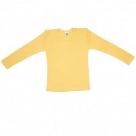 Bluză Cosilana din lână merinos, mătase și bumbac - Yellow Melange