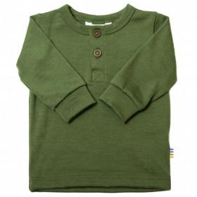 Bluză din lână merinos Joha - Single Wool Green