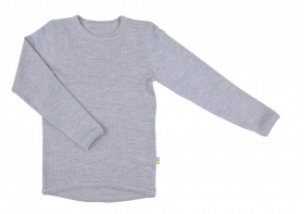 Bluză Joha lână merinos - Basic Grey