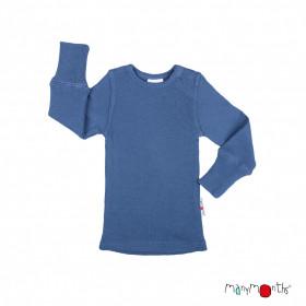 Bluză ManyMonths lână merinos - Cosmos Blue