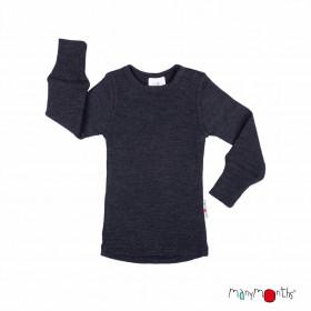 Bluză ManyMonths lână merinos - Foggy Black