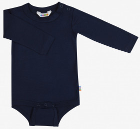 Body cu maneca lunga Joha din bambus - Dark Blue
