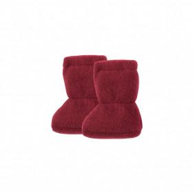 Botosei din lână merinos fleece Pure Pure - Burgundy