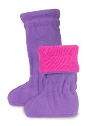 Botosei ManyMonths Winter Booties pt babywearing - Lilac Rose/Purple Peace