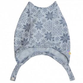 Caciula Joha lână merinos - Snow Crystal Soft Blue