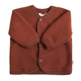 Cardigan din lână merinos tip fleece, Joha - Red, marimea 80