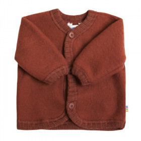 Cardigan din lână merinos tip fleece, Joha - Red