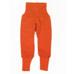 Cei mai comozi pantaloni Cosilana din lână merinos si mătase - Portocaliu
