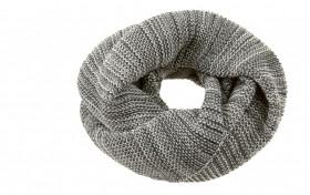 Fular circular Disana lână merinos - Anthracite/Grey