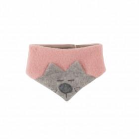Fular triunghi Pure Pure din lână organică fleece - Kitty Misty Rose