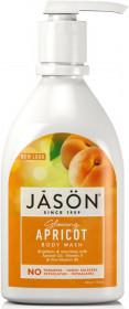 Gel de dus satinat, cu caise, 887ml, Jason