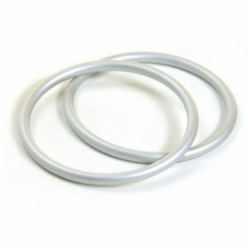 Inele pentru sling – aluminium (pereche 2 buc), Silver - 87mm, Didymos