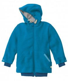 Jacheta Disana copii lână organica boiled wool (lana fiarta) - Blue
