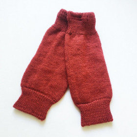 Jambiere Hirsch Natur din lână organica terry wool - Poppy Red