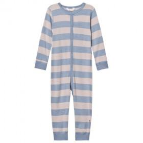 Jumpsuit Joha din lână merinos - Wide Stripe Blue/Grey, marimea 60