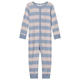 Jumpsuit Joha din lână merinos - Wide Stripe Blue/Grey