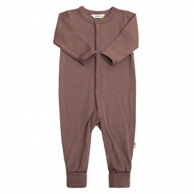 Jumpsuit Joha lână merinos (cu sosetele integrate) - Baby Single Wool Marsala Rose