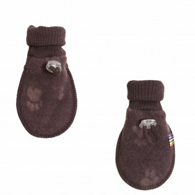 Manusi din lana merinos tip fleece, Joha - Footprint Purple