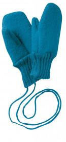 Manusi Disana lână organica boiled wool (lana fiarta) - Blue
