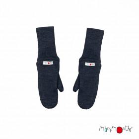 Mănuși dublate din lână merinos ManyMonths - Foggy Black