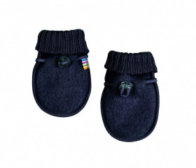 Manusi Joha lana merinos fleece - Basic Navy