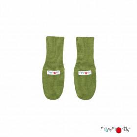 Manusi ManyMonths dublate lână merinos - Garden Moss Green