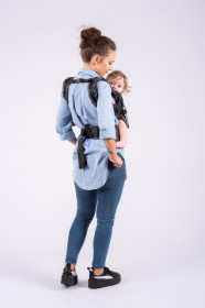 Marsupiu Ergonomic portbebe ISARA The Trendsetter, Standard, DIAMONDA BLACK DENIM