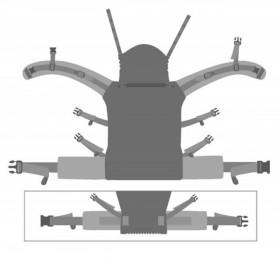 Marsupiu ergonomic,Kokadi Baby Size wrap conversion, Nora 99 Stars