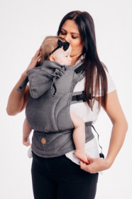 MARSUPIU ERGONOMIC,LENNYGO BABY SIZE, BASIC LINE GRAPHITE FULL WRAP CONVERSION