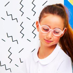 Ochelari de ecran Ki ET LA, 6-9 ani - Round Pink