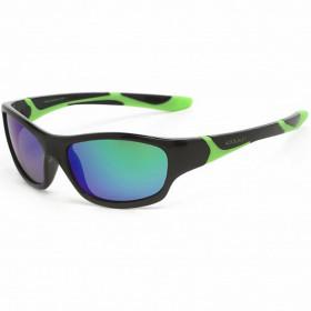 Ochelari de soare KOOLSUN, 6-12 ani - Sport- Black Lime