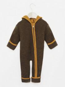 Overall din lână fiartă cu mănuși și botoșei, Stapf - Chestnut/Gold