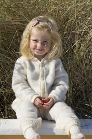 Overall lână merinos fleece Joha - Basic White