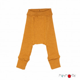 Pantaloni dublați Manymonths lână merinos - Honey Bread