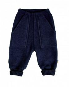 Pantaloni Joha lână merinos fleece - Navy
