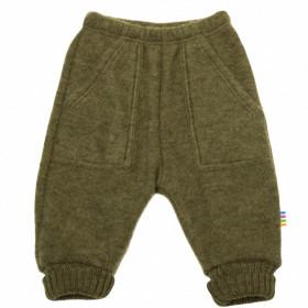 Pantaloni lână merinos fleece Joha - Basic Moss Melange