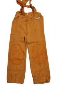 Pantaloni ManyMonths Hazel din lână merinos - Golden Oat