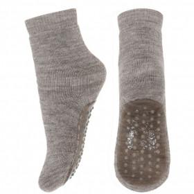 Papuci-sosete groase mp Denmark din lână - Light Brown