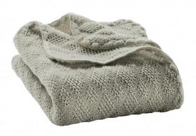 Patura bebelusi din lână merinos tricotata Disana - Grey