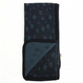 Patura din lână merinos fleece Joha - Footprint Navy
