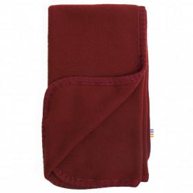 Patura Joha din lână merinos fleece- Crimson Red