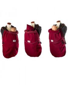 Protectie iarna marsupiu (3 in 1) MaM All-Season Combo FLeX - Rosewood Red + Cagula ajustabila