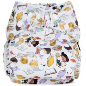 Scutec textil refolosibil cu buzunar Baba+Boo Bookworm