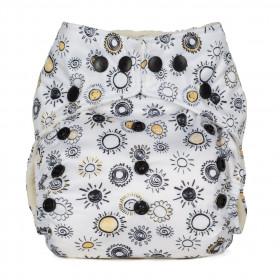 Scutec textil refolosibil cu buzunar Baba+Boo Sunshine
