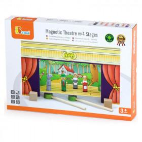 Teatru de papusi magnetic din lemn