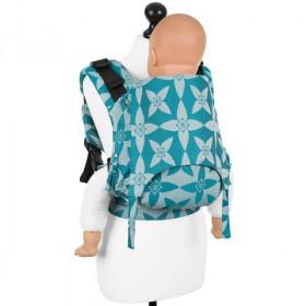 Toddler Size: Fidella Fusion 2.0 Full Wrap Conversion; Blossom Ocean Blue